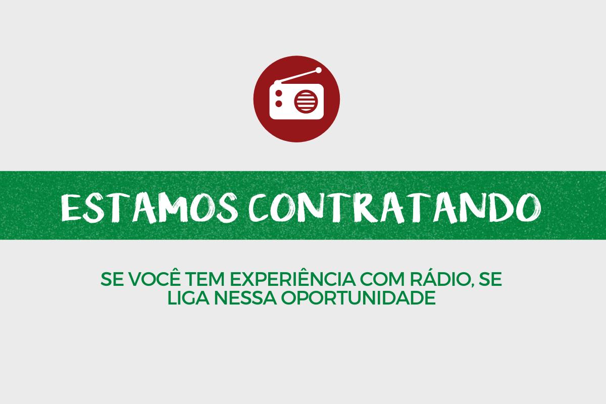 contratação de comunicador para projeto de rádio